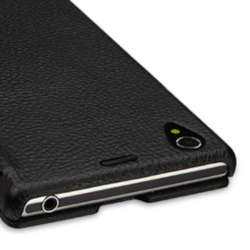 Кожаный чехол горизонтальная книжка (нат. кожа) для Sony Xperia Z1