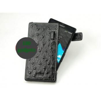 Персональный кожаный чехол ручной работы (нат. кожа) разновидность Уголок для Sony Xperia Z1 (изготовление на заказ)