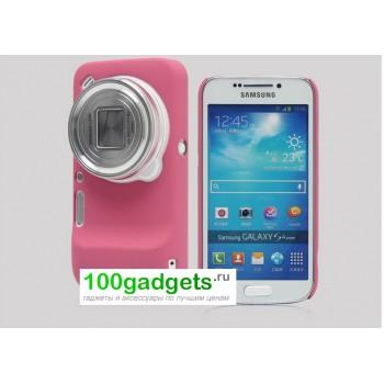 Пластиковый чехол для Samsung Galaxy S4 Zoom Розовый