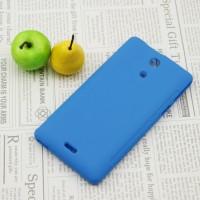 Силиконовый непрозрачный чехол для Sony Xperia ZR Голубой