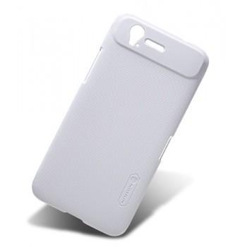 Пластиковый матовый чехол премиум для ZTE Grand S Белый