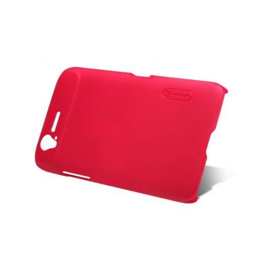 Пластиковый матовый чехол премиум для ZTE Grand S Красный
