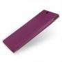 Кожаный чехол книжка горизонтальная (нат. кожа) для Sony Xperia Z Ultra фиолетовая