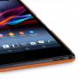 Накладка кожаная Back Cover (нат. кожа) для Sony Xperia Z Ultra оранжевая