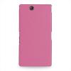Накладка кожаная Back Cover (нат. кожа) для Sony Xperia Z Ultra розовая