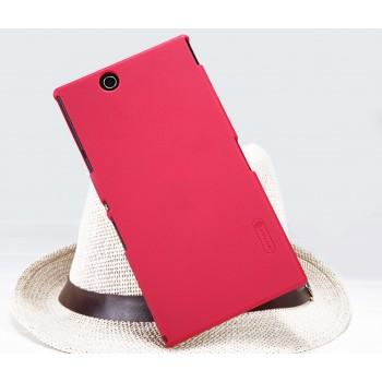 Пластиковый матовый премиум чехол для Sony Xperia Z Ultra Красный