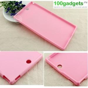 Силиконовый чехол для Sony Xperia Z Ultra Розовый