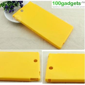 Силиконовый чехол для Sony Xperia Z Ultra Желтый