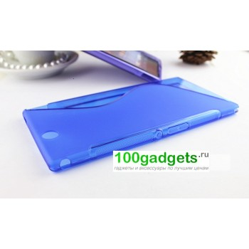 Силиконовый чехол S для Sony Xperia Z Ultra Голубой