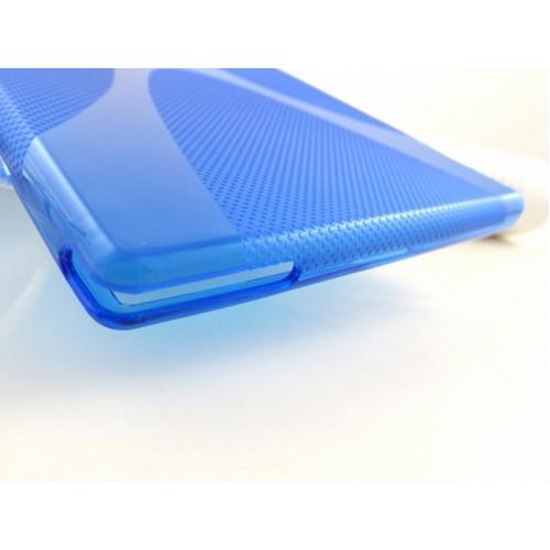 Силиконовый чехол X для Sony Xperia Z Ultra Голубой