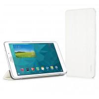 Текстурный чехол флип подставка сегментарный для Samsung GALAXY Tab 4 8.0 Белый