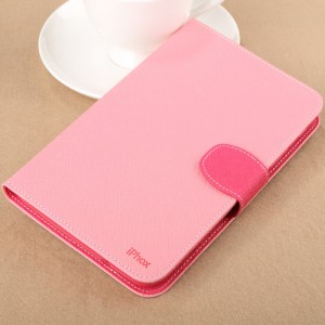 Чехол подставка с внутренними отсеками на силиконовой основе для Samsung Galaxy Tab 3 Lite Розовый