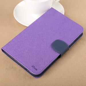Чехол подставка с внутренними отсеками на силиконовой основе для Samsung Galaxy Tab 3 Lite Фиолетовый