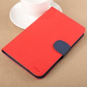 Чехол подставка с внутренними отсеками на силиконовой основе для Samsung Galaxy Tab 3 Lite Красный