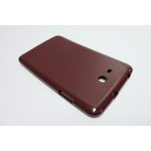 Силиконовый матовый полупрозрачный чехол для Samsung Galaxy Tab 3 Lite