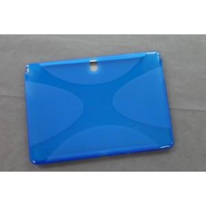 Силиконовый матовый X чехол для Samsung Galaxy Tab Pro 10.1 Синий