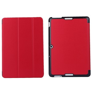 Чехол флип подставка сегментарный для ASUS MeMO Pad 10 (ME103K) Красный