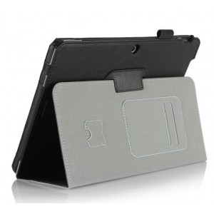Чехол подставка с рамочной защитой и внутренними отсеками для ASUS MeMO Pad 10 (ME103K) Черный