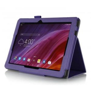 Чехол подставка с рамочной защитой и внутренними отсеками для ASUS MeMO Pad 10 (ME103K) Фиолетовый