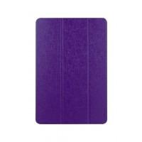 Текстурный чехол флип подставка сегментарный на пластиковой полупрозрачной основе для ASUS Transformer Pad TF103CG Фиолетовый