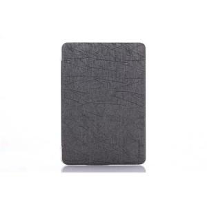 Текстурный чехол флип подставка сегментарный на пластиковой полупрозрачной основе для Lenovo Miix 3 8 Серый
