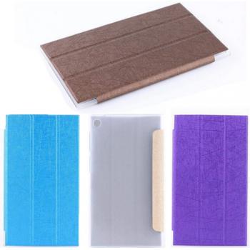 Текстурный чехол флип подставка сегментарный на пластиковой полупрозрачной основе для ASUS MeMO Pad 7 (ME572CL)