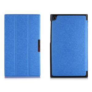 Текстурный чехол флип подставка сегментарный для ASUS MeMO Pad 7 (ME572CL) Голубой