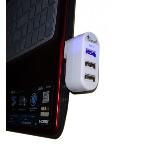 Роторный 180 град хаб на 3 USB 2.0 разъема 5V 0.5A