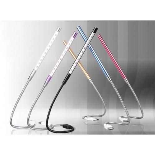 Осветительная USB 2.0 LED-лампа ширина 15 см на гибком алюминиевом стебле 30 см