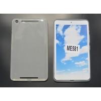 Силиконовый матовый полупрозрачный чехол для Asus MeMO Pad 8 (ME581CL) Белый