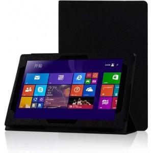 Текстурный чехол подставка с рамочной защитой для Lenovo Miix 3 10 Черный