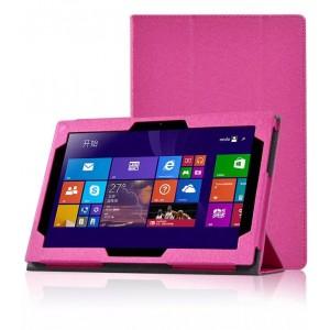 Текстурный чехол подставка с рамочной защитой для Lenovo Miix 3 10 Пурпурный