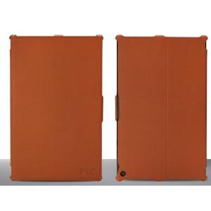 Кожаный чехол подставка текстура Ткань для Nokia Lumia 2520