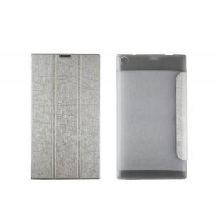 Текстурный чехол флип подставка сегментарный на пластиковой полупрозрачной основе для Lenovo Tab 2 A7-30