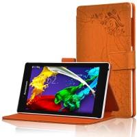 Чехол подставка текстурный для Lenovo Tab 2 A7-30 Оранжевый