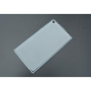 Силиконовый матовый полупрозрачный чехол для Lenovo Tab 2 A7-30 Белый