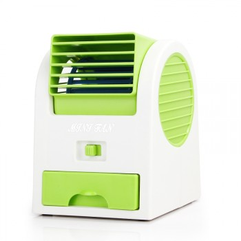 Портативный безлопастной USB-вентилятор с отсеком для ароматизаторов воздуха/льда
