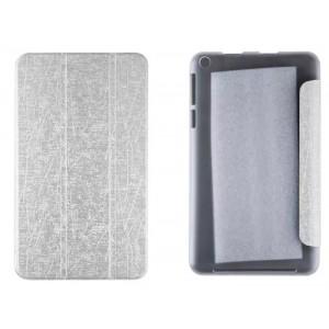 Текстурный чехол флип подставка сегментарный на пластиковой полупрозрачной основе для Acer Iconia One 8 B1-810