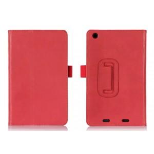 Чехол подставка с рамочной защитой и внутренними отсеками для Acer Iconia One 7 B1-730 Красный