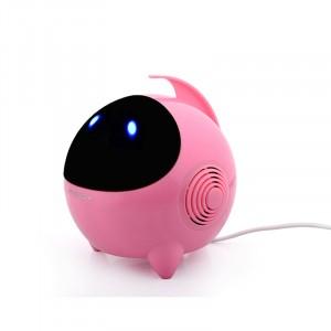 Портативные стереодинамики с регулятором громкости серия Alien 3W 60-20000Гц Розовый