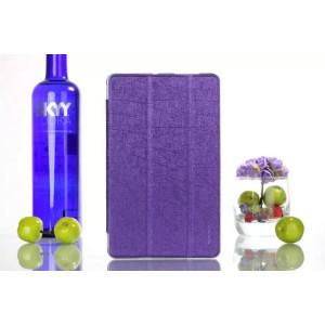 Текстурный чехол флип подставка сегментарный на пластиковой полупрозрачной основе для Acer Iconia One 7 B1-730 Фиолетовый