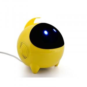 Портативные стереодинамики с регулятором громкости серия Alien 3W 60-20000Гц Желтый