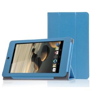 Сегментарный чехол подставка с рамочной защитой для Acer Iconia One 7 B1-730 Голубой