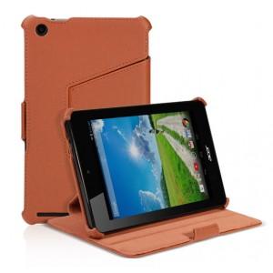 Кожаный чехол подставка для Acer Iconia One 7 B1-730 Коричневый
