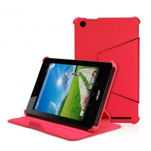 Кожаный чехол подставка для Acer Iconia One 7 B1-730 Красный