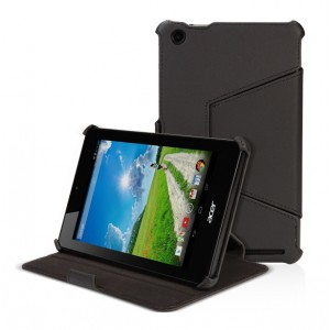 Кожаный чехол подставка для Acer Iconia One 7 B1-730 Черный