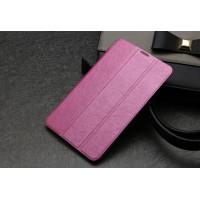 Текстурный чехол флип подставка сегментарный на пластиковой полупрозрачной основе для Acer Iconia Tab 7 A1-713 Розовый