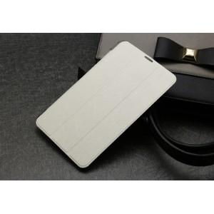 Текстурный чехол флип подставка сегментарный на пластиковой полупрозрачной основе для Acer Iconia Tab 7 A1-713