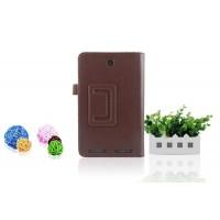 Чехол подставка с рамочной защитой для Acer Iconia Tab 7 A1-713 Коричневый