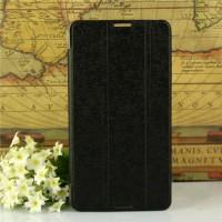 Текстурный чехол флип подставка сегментарный на пластиковой полупрозрачной основе для Acer Iconia Talk S Черный
